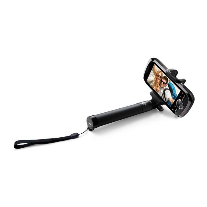 Селфи стик Acme MH10 с Bluetooth с бутон за снимки за мобилни телефони Android и iOS, разтегателен, черен image