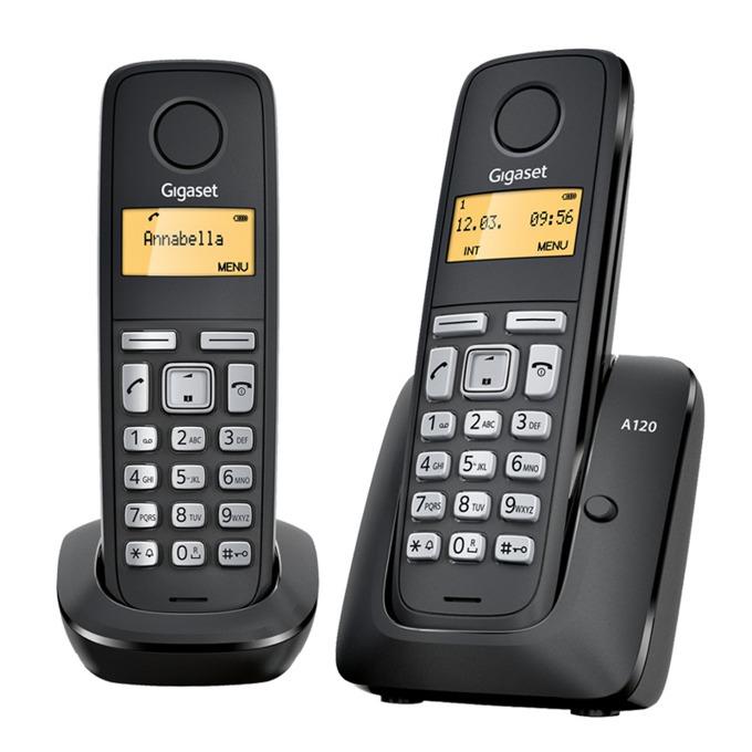 Безжичен телефон Gigaset A120 DUO 1015071