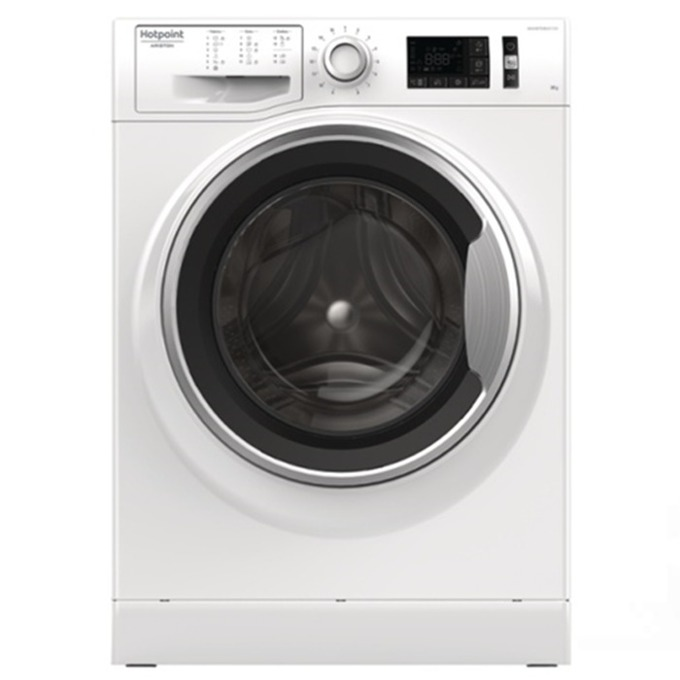 Перална машина Hotpoint Ariston NM11825WSA, клас А+++, 8 кг. капацитет, 1200 оборота в минута, 15 програми, свободностояща, 60 cm. ширина, Direct injection, Active Care, бяла image