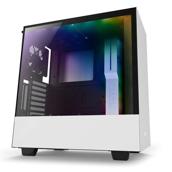 Кутия NZXT H500i CA-H500W-W1, ATX/mATX/mini-ITX, 2x USB 3.1 Gen1, страничен прозорец от закалено стъкло, бяла, без захранване image