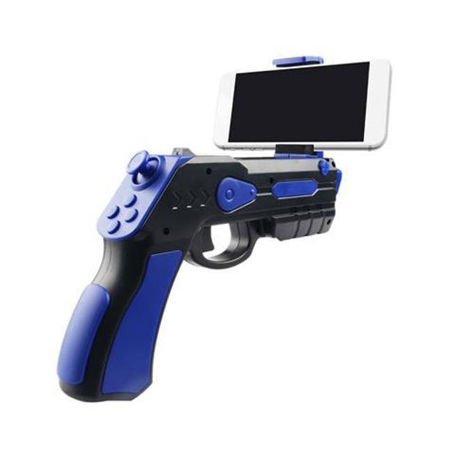Джойстик Omega Remote Augmented Reality Gun Blaster, съвместим с Android/iOS, Bluetooth, черен/син image