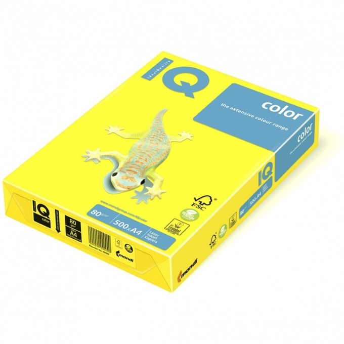 Хартия Mondi IQ Color, A4, 80 g/m2, 500 листа, жълта image
