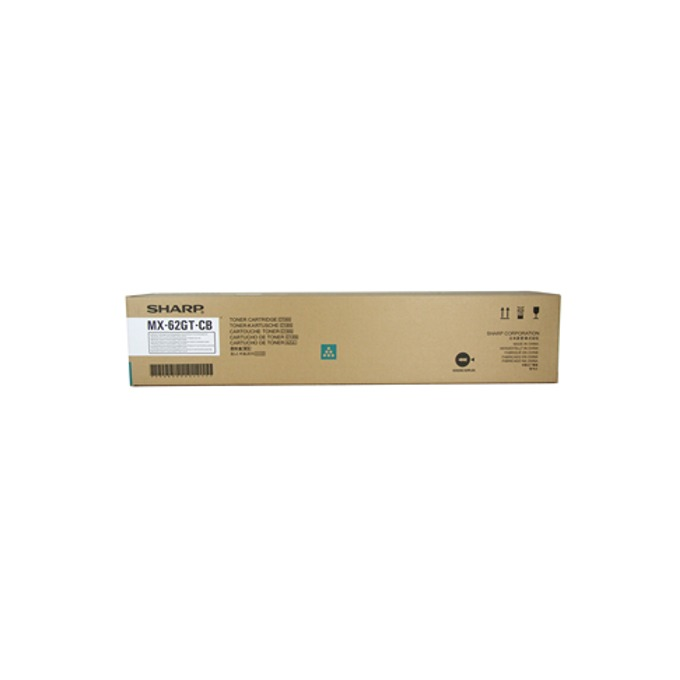 Касета за Sharp MX-62GTCB - Cyan - MX62GTMB - Заб.: 40 000k image