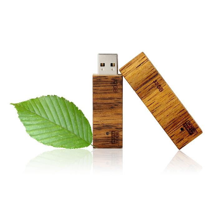 16GB USB Flash Drive, Goodram Eco WOOD, USB 2.0, кафяв image