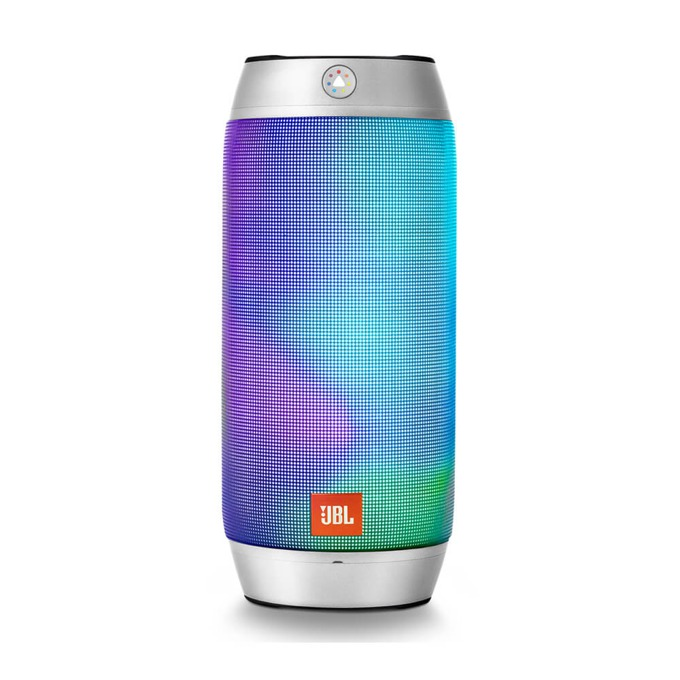 Тонколона JBL Pulse 2, 2.0, RMS 16W(8W+8W), Bluetooth, черна, LED светлини|сребриста image