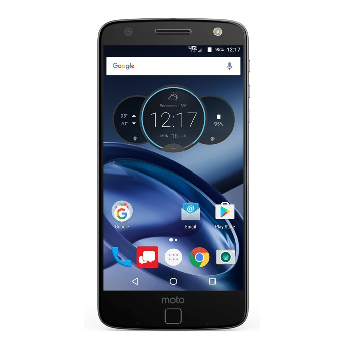 "Смартфон Motorola Moto Z (черен), поддържа 2 sim карти, 5.5"" (13.97 cm) AMOLED дисплей, четириядрен Qualcomm MSM8996 Snapdragon 820(2x 2.15 GHz Kryo & 2x 1.6 GHz Kryo), 4GB RAM, 32GB Flash памет(+microSD слот), 13 & 5 Mpix camera, Android 6.0, 136g image"