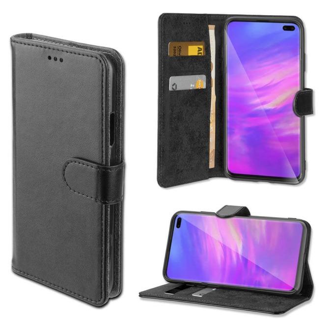 Калъф за Samsung Galaxy S10 Plus, 4smarts Wallet Case URBAN, Flip Wallet , кожен, черен image
