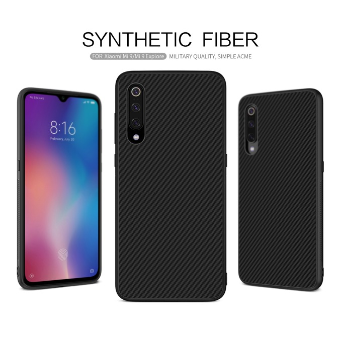 Калъф за Xiaomi Mi 9, арамидни влакна, Nillkin Synthetic fiber, черен image