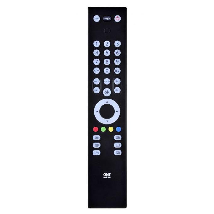 Дистанционно One For All Slim Line TV URC3910, контролира 1 устойство, IR обхват 15 метра, брой бутони 35, 2 х AAA, 80g image