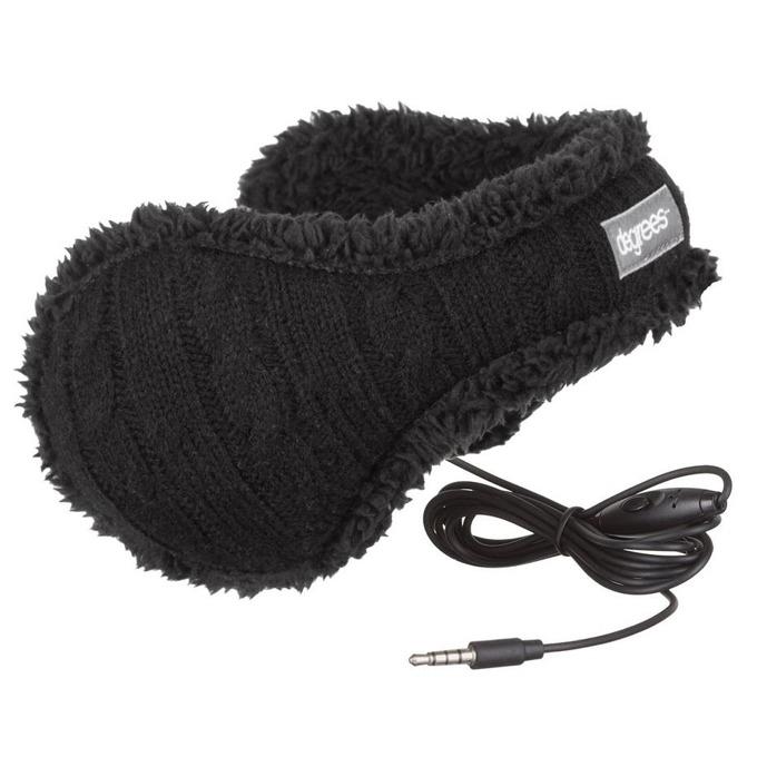 Слушалки 180s Ear Warmer, QuantumSound спийкър технология, която ви позволява да слушате любимата си музика, докато пазите топли ушите си, черни image