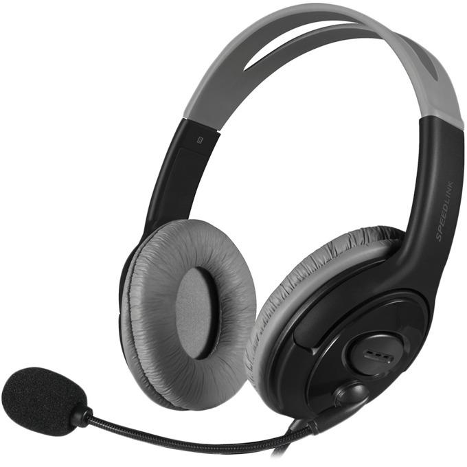 Слушалки Speedlink Luta, микрофон, черни/сиви image