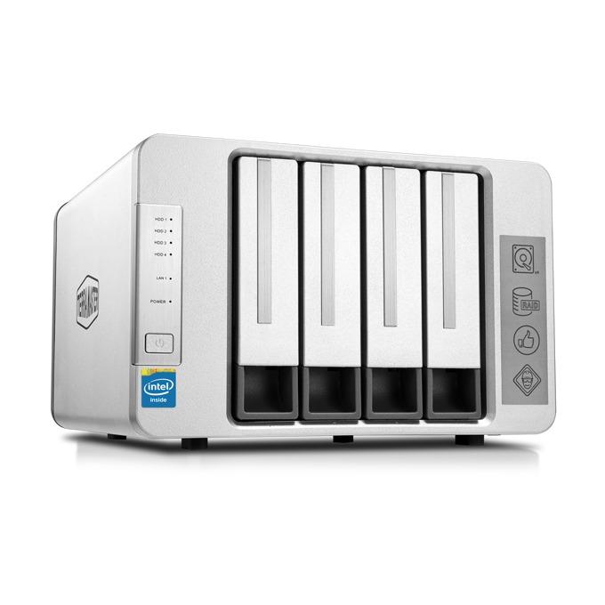 TerraMaster F4-220 (F4-220/2X6TB), двуядрен Intel Celeron J1800 2.41GHz/2.58GHz, 2 GB RAM, 2x 6TB Seagate NAS HDD, 1x RJ-45, USB 3.0, USB 2.0, Tower image