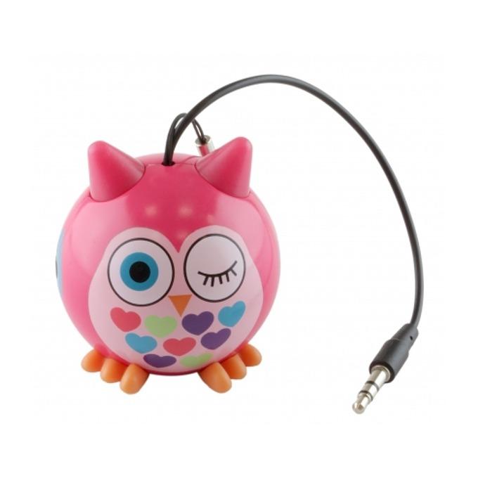 Тонколона KitSound Mini Buddy Bowl, 1.0, 2W, USB, розова, вградена Li-Ion батерия, image