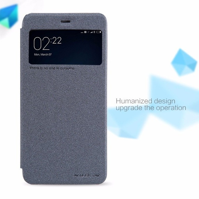 Калъф Xiaomi Mi 5S, отваряем, пластмаса, Nillkin, XI259-Siw, с прозорец сив image