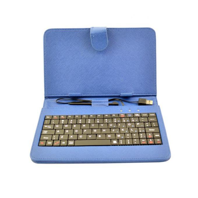 "Калъф Privileg за таблет до 7"" (17.78 cm), ""бележник"", син, с клавиатура  image"