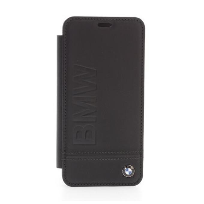 Калъф за Samsung Galaxy S9, естествена кожа, BMW Signature Leather Booktype Case, черен image