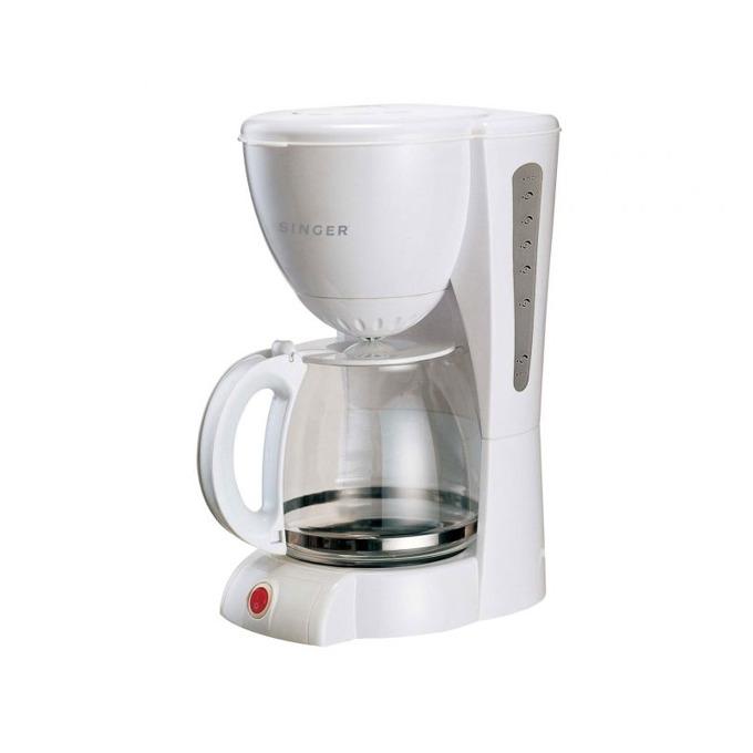 Ръчна шварц кафемашина Singer SFC-610 WH, 1000 W, 15 чашки вместимост, Aroma функция, защита от прегряване, бяла  image