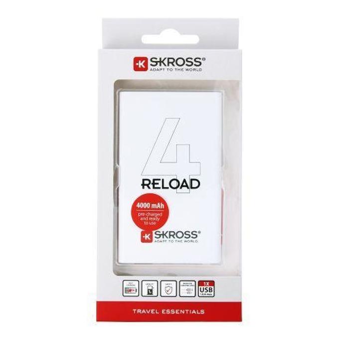 Външна батерия /power bank/ Skross Reload 4, 4000mAh, бяла image