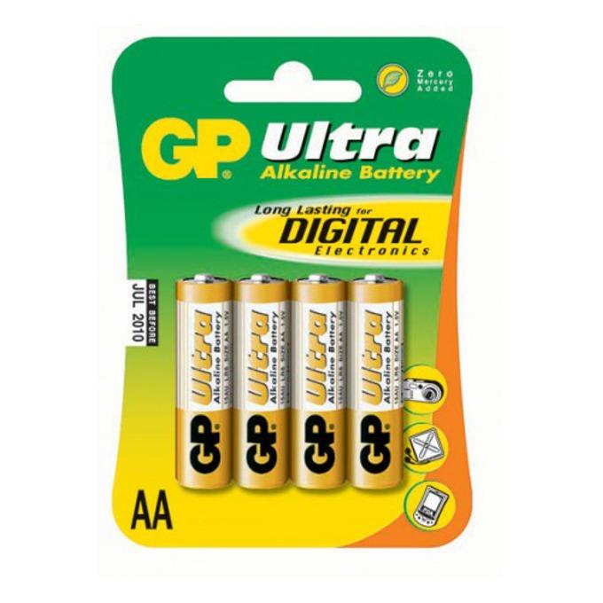 Батерия алкална GP Ultra AA, 1.5V, 4 бр.  image