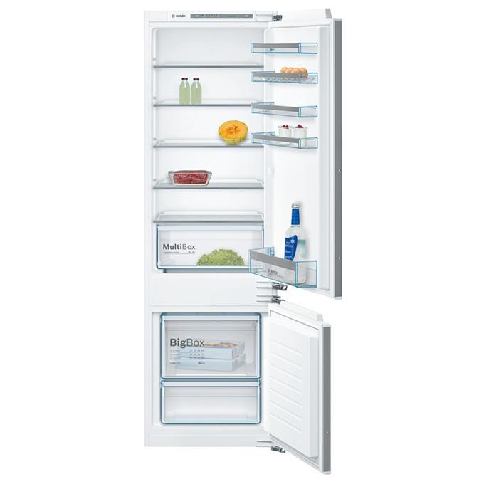 Хладилник с фризер Bosch KIV 87 VF 30, клас А++, 272 л. общ обем, за вграждане, 227 kWh/годишно, електронно управление, Low Frost технология, VarioZone, LED вътрешно осветление, инокс image