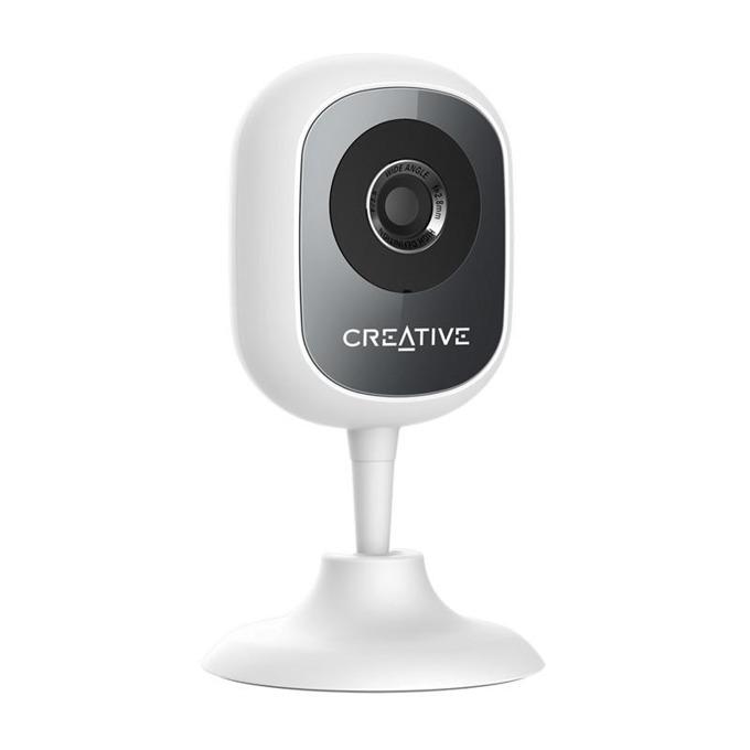 IP камера Creative Live! Cam IP SmartHD, домашна/портативна, 1Mpix(1280x720@25fps), H.264, Wi-Fi, вътрешна, microUSB, microSD слот, микрофон и говорител, бяла image