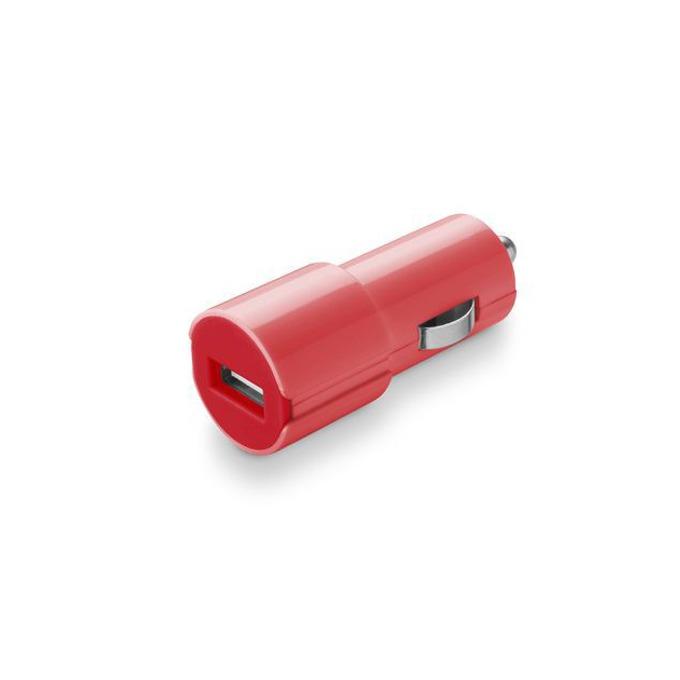 Зарядно у-во /универсално/ Cellular Line Smarty USB, 1A, USB(ж), за кола, червено image