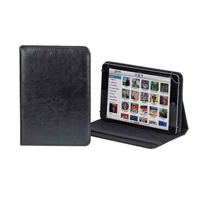 "Калъф, /тип бележник/ за таблет RIVACASE 3003 до 8"" (20.32 cm), кожен, черен image"
