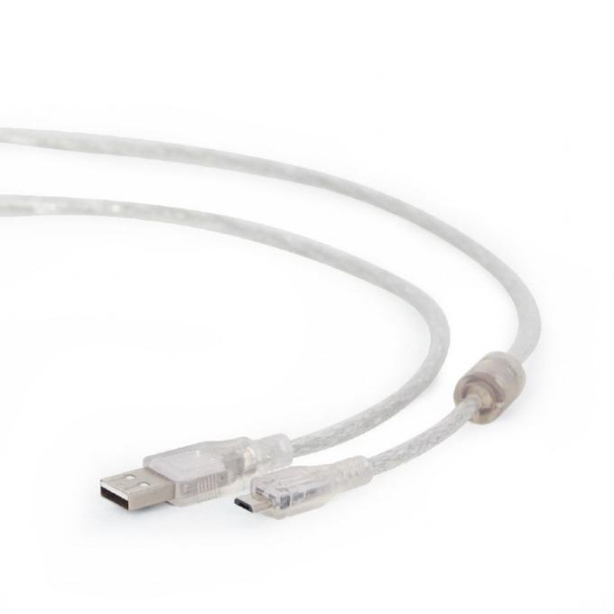 Кабел Gembird, USB A(м) към USB Micro(м), 1.8m, прозрачен  image