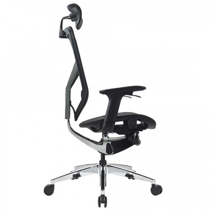 Работен стол Ware, дамаска, облегалка за глава, черен image