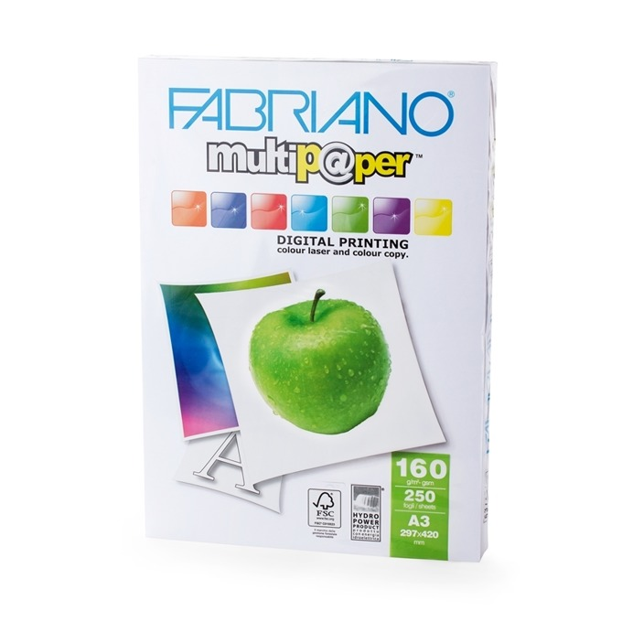 Fabriano Multipaper, A3, 160 g/m2, 250 листа product