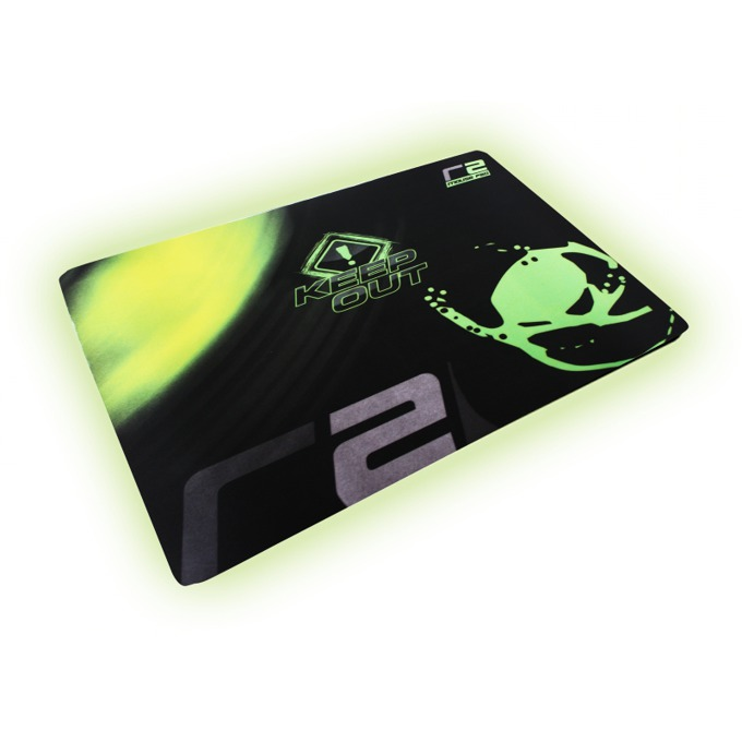 Подложка за мишка KEEPOUT R2, гейминг, черно/зелена, 320 x 270 x 3 мм image