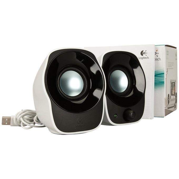 Тонколони Logitech Z120, 2.0, 1.2W, 3.5mm жак, USB, бели image