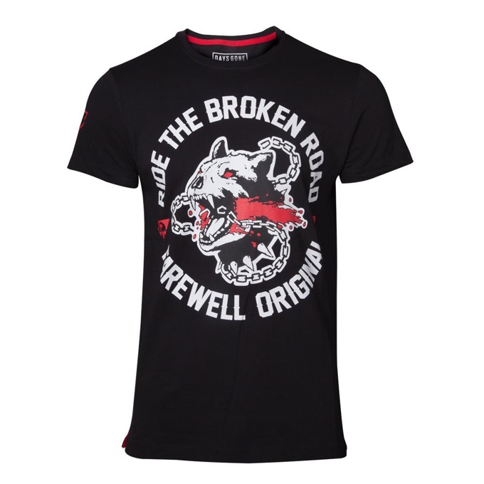 Тениска Bioworld Days Gone Broken Road, размер M, черна image