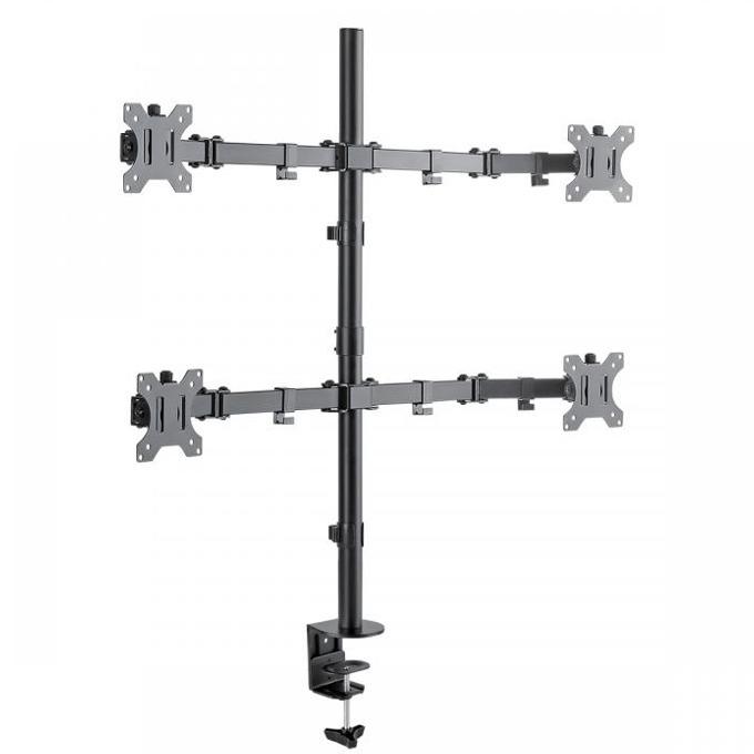 """Стойка за монитор SBOX LCD-352-4, за маса, за екрани от 13"""" (33.02 cm) до 27"""" (68.58 cm), макс. тегло до 10 кг., регулируема, за 4 монитора, черна image"""