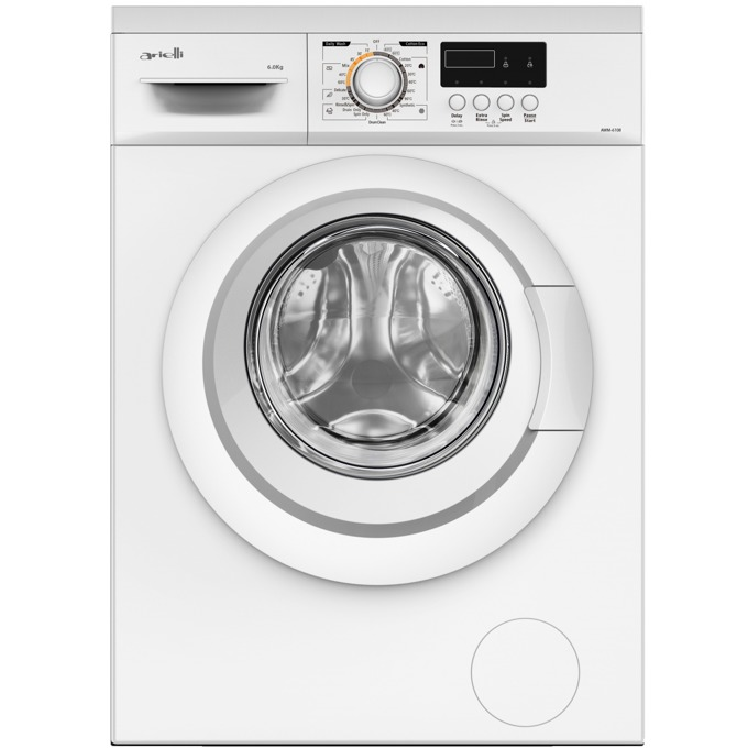 Пералня Arielli AWM-6108, клас A++, 6 кг. капацитет на пералня, 1000 оборота в минута, брой програми 23, свободностояща, функция допълнително изплакване, бяла image