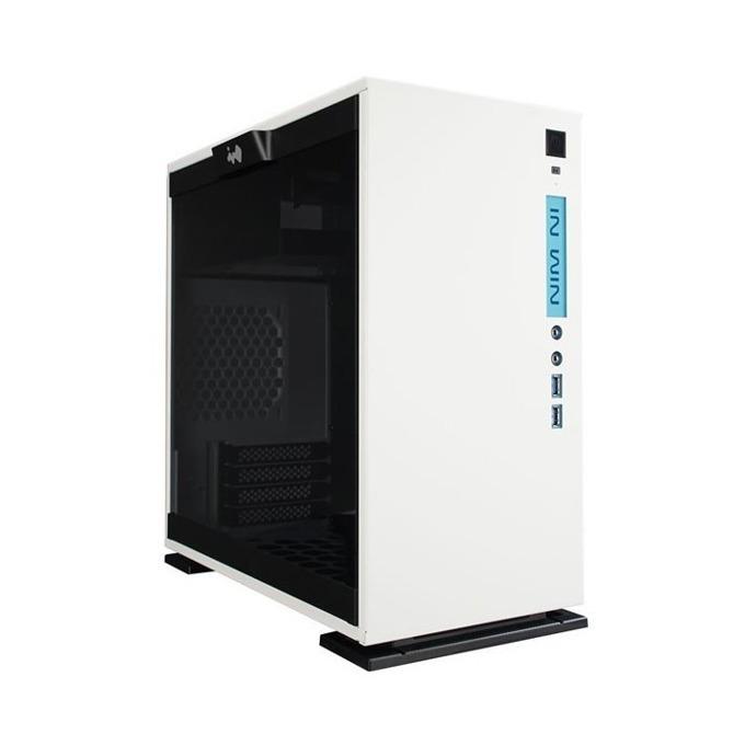 Кутия INWIN 301C White, ATX/mATX/ITX, 2x USB3.0(type A)/1x USB3.1 Gen 2(USB Type-C), Tempered Glass SECC Body RGB LED, бял, без захранване image