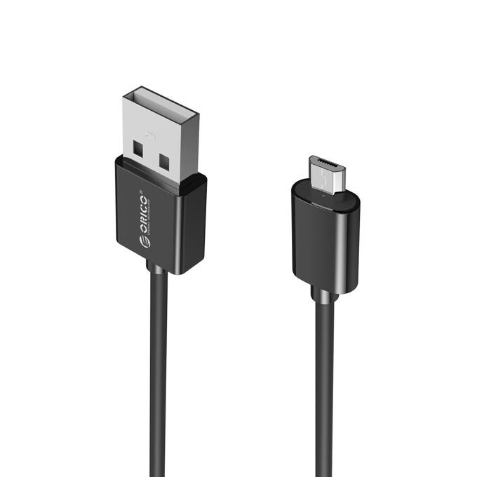 Кабел Orico ADC-20, от USB A(м) към microUSB Type B(м), 2м, черен image