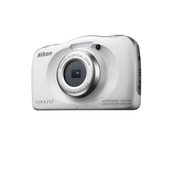"Nikon Coolpix W100(бял) в пакет с чанта, 3x оптично увеличение, 13.2 Mpix, 2.7"" (6.8cm), Wi-Fi, SD, SDHC, SDXC слот, microHDMI(Type D), microUSB, устойчив на прах/вода/удари(IPX8/IP6X) image"