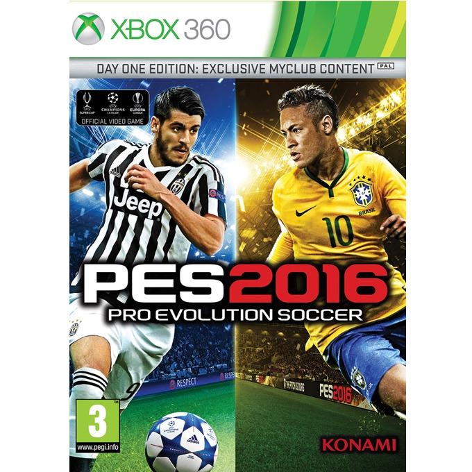 Игра за конзола Pro Evolution Soccer 2016 Day 1 Edition, Бонусите включват: 1x Играч на годината, 1x Играч за 10 мача, 10,000 GP x 10 седмици, фигурка на Neymar JR, за XBOX360 image