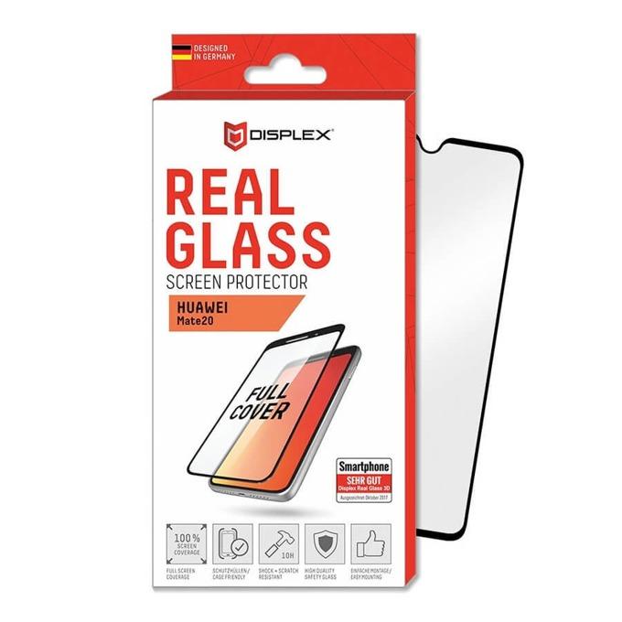 Протектор от закалено стъкло /Tempered Glass/ Real Glass 10H Protector 3D, за Huawei Mate 20 с черна рамка image