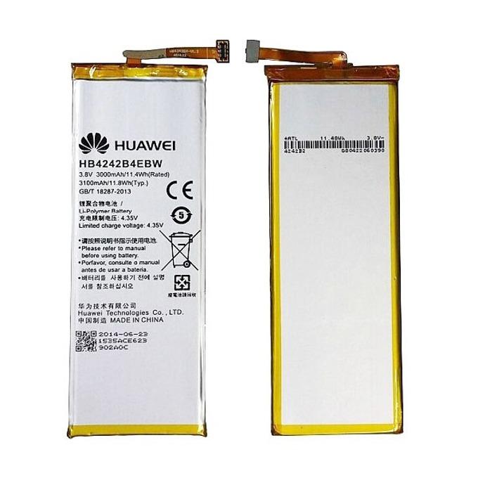 Батерия (оригинална) Huawei HB4242B4EBW за Huawei Honor 6, 3100mAh/3.8V, Bulk image