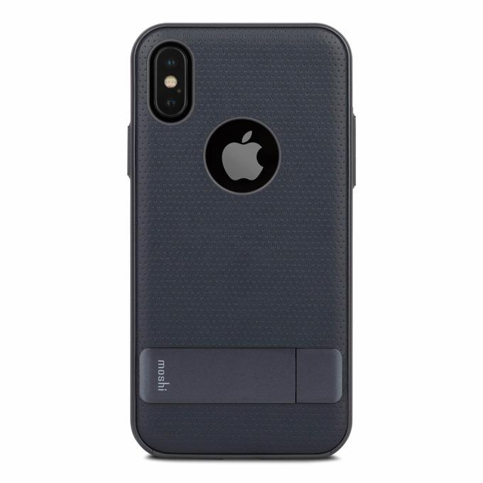 Калъф за Apple iPhone XS, хибриден, Moshi Kameleon 99MO101512, удароустойчив, с поставка, тъмносин image