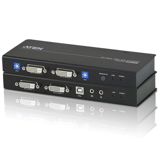 KVM екстендър ATEN CE604, DVI Dual View, 60 м image