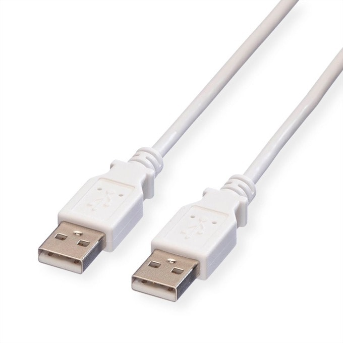 Кабел Roline 11.99.8931, USB A(м) към USB А(м), 3m, бял image