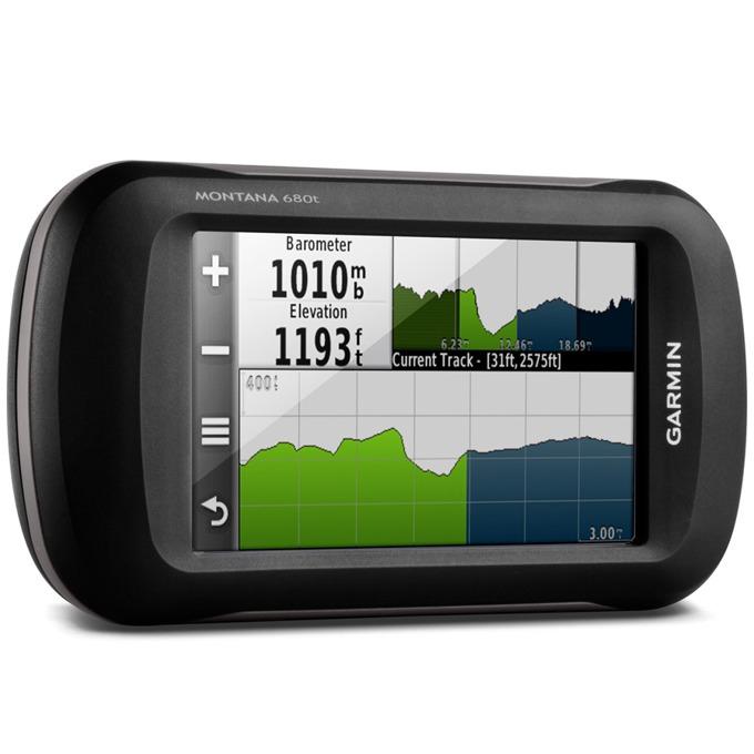 """Ръчна навигация Garmin Montana 680t, в лодки, като ръчен или в автомобила, 4""""(10.16 cm) TFT дисплей, 8 mpix, 2.9GB + microSD Flash, BlueChart, IPX7, Европейска топографска карта и Световна базова карта image"""