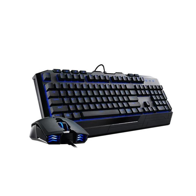 Комплект клавиатура и мишка CoolerMaster Devastator II Blue, гейминг, синя подсветка, оптична мишка (2000 dpi), черна, USB image