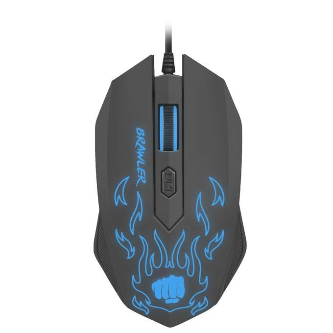 Мишка Fury Brawler, гейминг, оптична(1600dpi), USB, черна, подсветка image