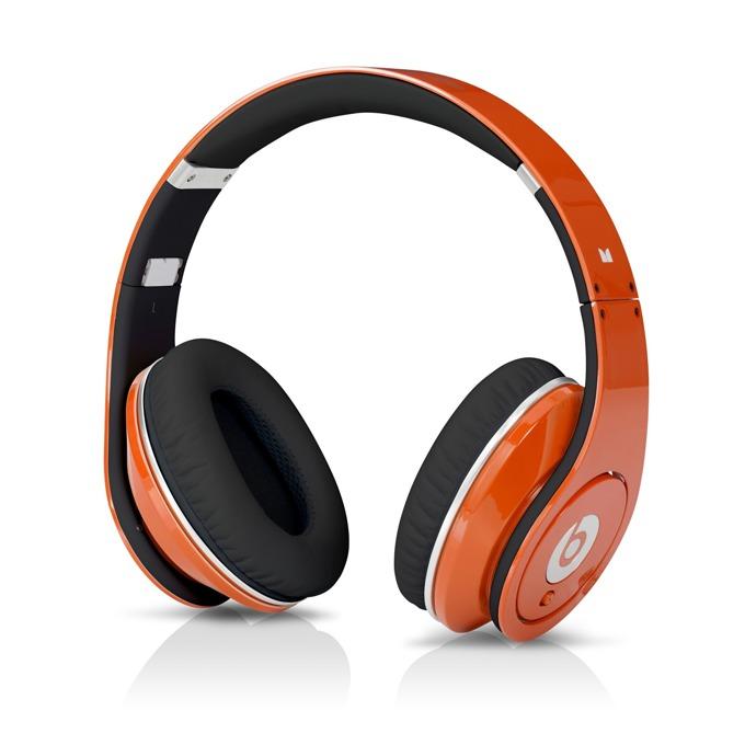 Слушалки Beats by Dre Studio Over Ear, оранжеви, професионални, микрофон, сгъваеми, оптимизирани за iPhone/iPod/iPad image