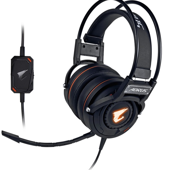 Слушалки Gigabyte Aorus H5, миктофон, гейминг, черни image
