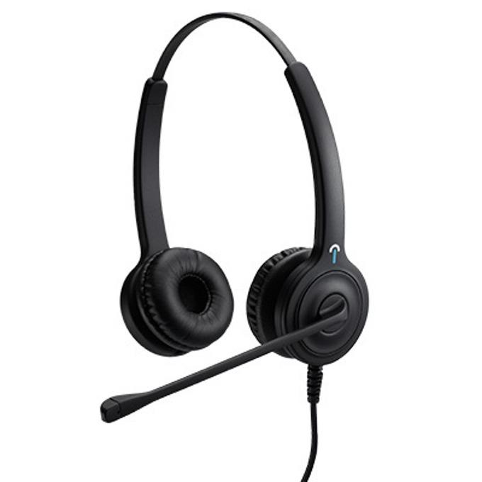 Слушалки IPN H850 Duo NC IPN031, QD/RJ кабел, шумоподтискащ микрофон, професионални за офиси и кол центрове, черни image